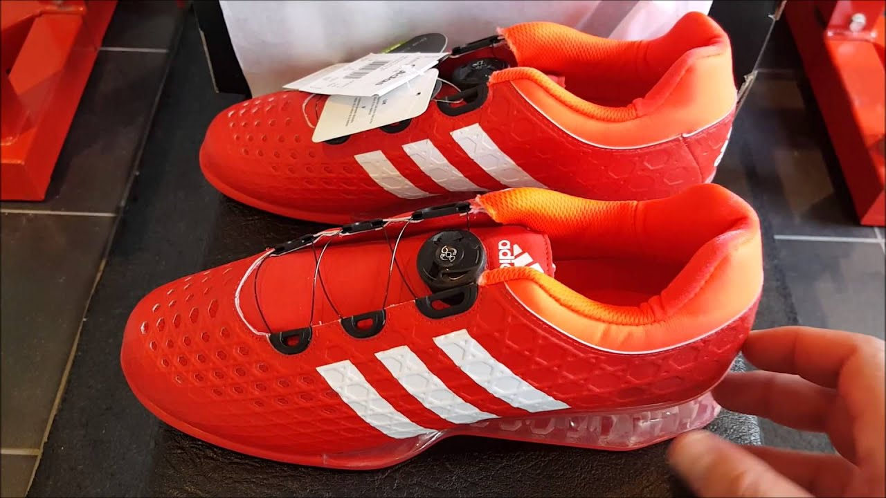 new product f127e 1f123 Unboxing Unpacking Adidas Leistung 16 squat weightlifting shoe