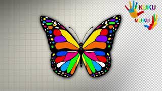 kUKU MUKU Как Нарисовать Бабочку поэтапно. Учимся рисовать бабочку