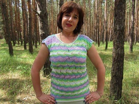 Вязание ажурной летней кофты волнистым узором в стиле Миссони