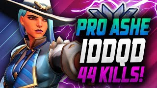 44 ELIMS - PRO ASHE IDDQD DOMINATING Competitive! [ OVERWATCH SEASON 17 TOP 500 ]