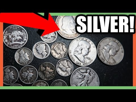 SILVER COINS FROM COIN SHOP - JUNK SILVER COINS WORTH MONEY!!