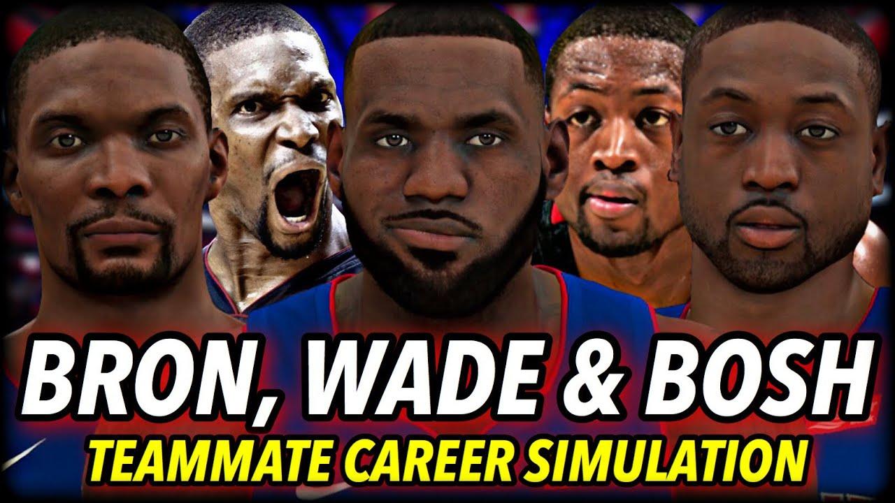 I Put LEBRON, WADE & BOSH on the SAME TEAM for their WHOLE CAREERS... | NBA 2K21 Simulation