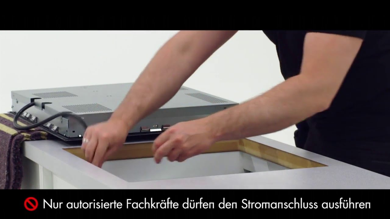 progress montage induktionskochfeld i erh ltlich bei moebelplus youtube. Black Bedroom Furniture Sets. Home Design Ideas