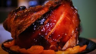Apricot Glazed English Gammon Recipe - Christmas Ham