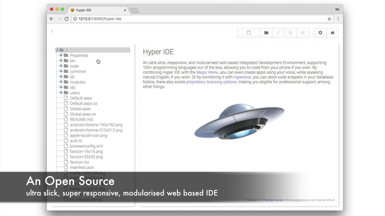 Hyper IDE, a web based IDE for 100+ programming languages | Gaiasoul