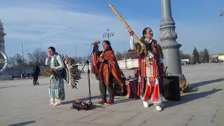 Индейцы снимают Клип на ВДНХ