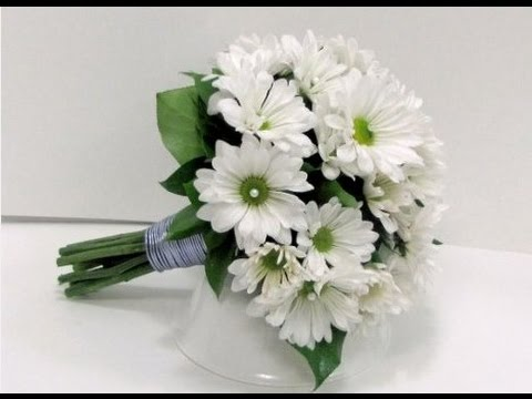 daisy flower bouquet wedding white wedding bouquet 3287