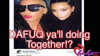 Amber Rose & Kim Kardashian Post A Pic Together On Instagram~ Social Media Goes CRAZY!