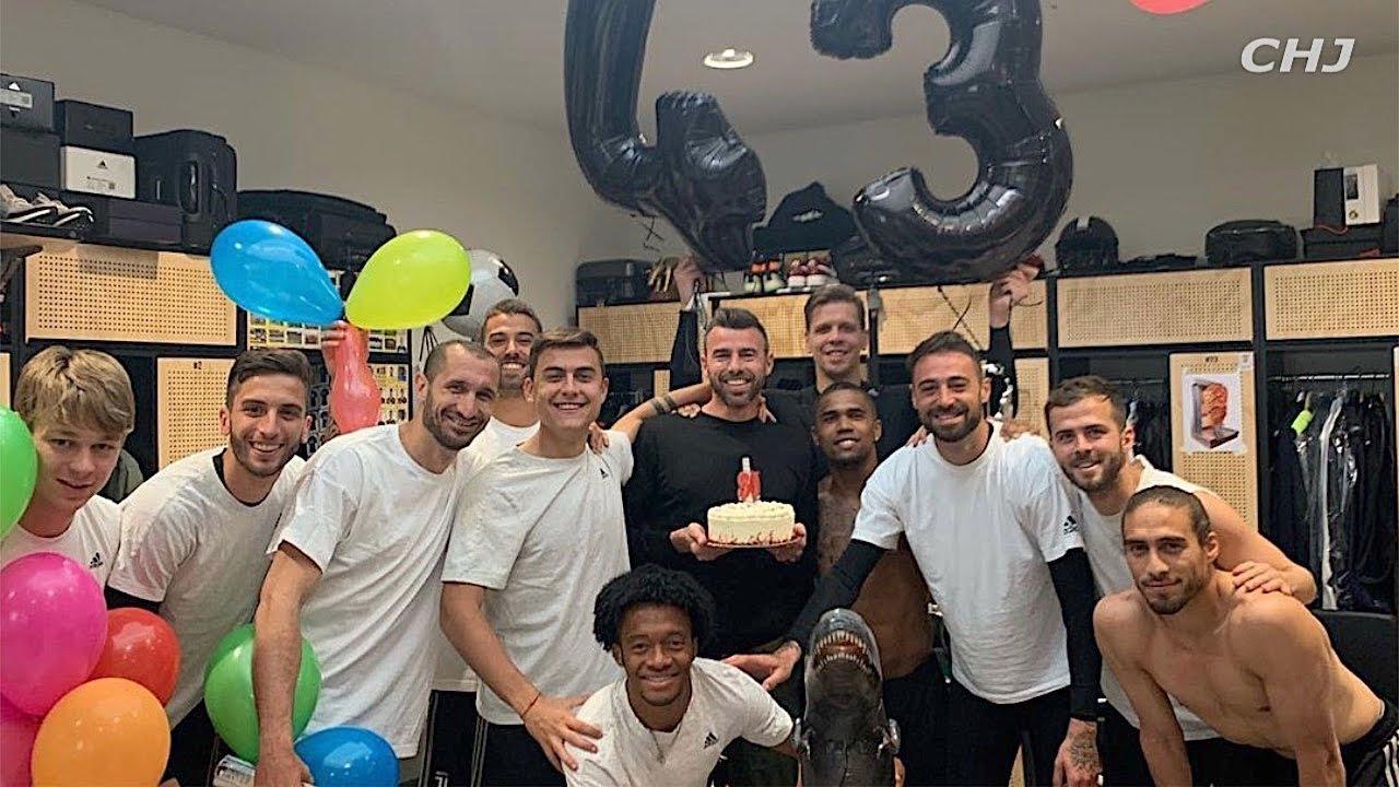 Festa A Sorpresa Di Compleanno barzagli: festa a sorpresa per il suo ultimo compleanno da giocatore della  juventus