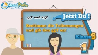 ggT und kgV    Klasse 6 ★ Übung 1
