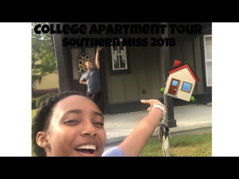 College Apartment Tour    Southern Miss 2018
