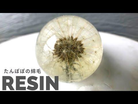 【レジン】まるごとたんぽぽの綿毛ペーパウェイト/Dandelion paper weight of dandelion