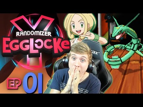 LEGENDARY IN THE 1ST GYM!? | Pokemon Y Randomizer Egglocke Part 1