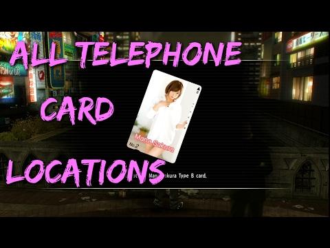 Yakuza 0 - All Telephone Card Locations