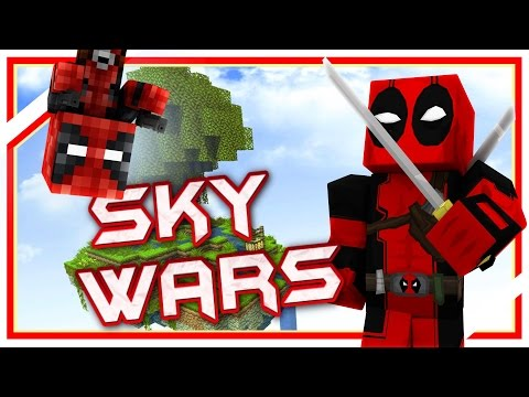 """Deadpool plays SkyWars: """"DEADPOOL FACECAM?"""" (Minecraft Sky Wars)"""