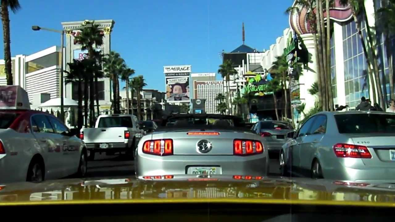 Las Vegas Ford >> The Las Vegas Strip In A Ford Mustang Convertible Part 1 Youtube