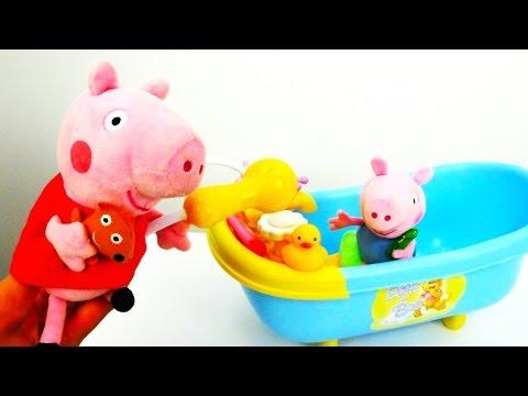 Мультики Свинка Пеппа как мама: Уход за малышом Джорждем. Смотреть видео ИГРУШКИ для девочек серия 7
