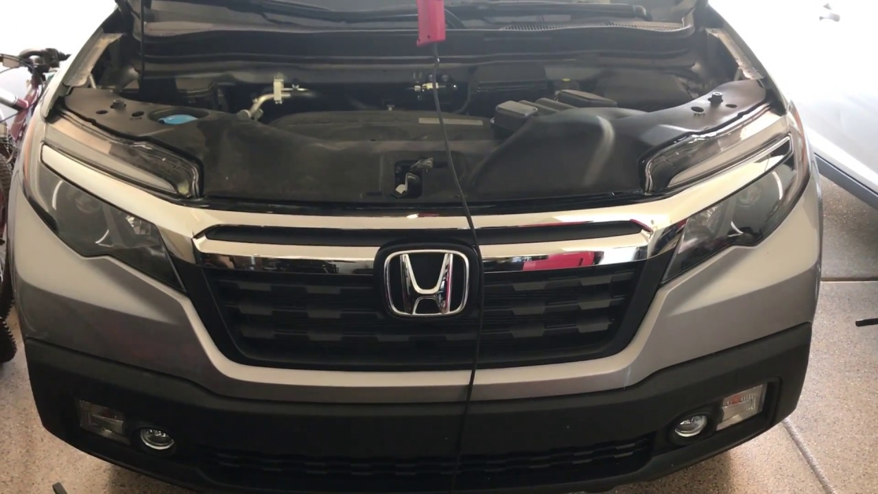 2017 Honda Ridgeline Radiator Battery Access Youtube Fuel Filter Location