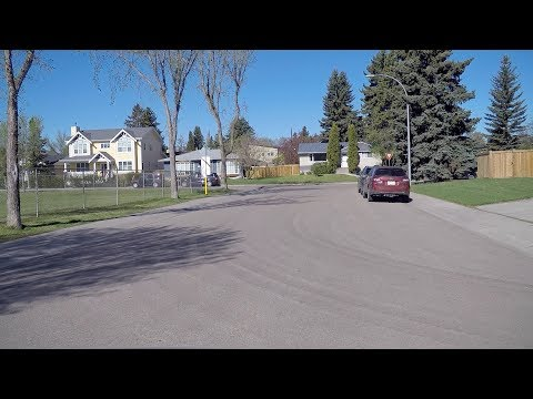 Driving In Edmonton Alberta Canada. Homes - Houses - Property. City Life.