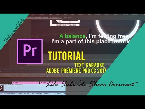 Create Text Karaoke Adobe Premiere Pro CC 2017