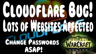 Cloudflare Security Bug - W๐W and Gaming Websites Affected!