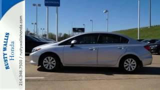 2012 Honda Civic Sedan Dallas TX Fort Worth, TX #160938A - SOLD