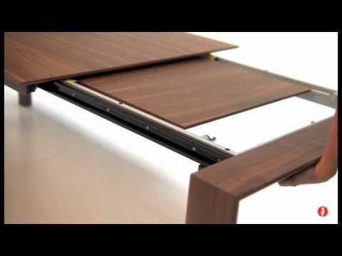 Omnia: tavolo allungabile rettangolare in legno by Calligaris - YouTube