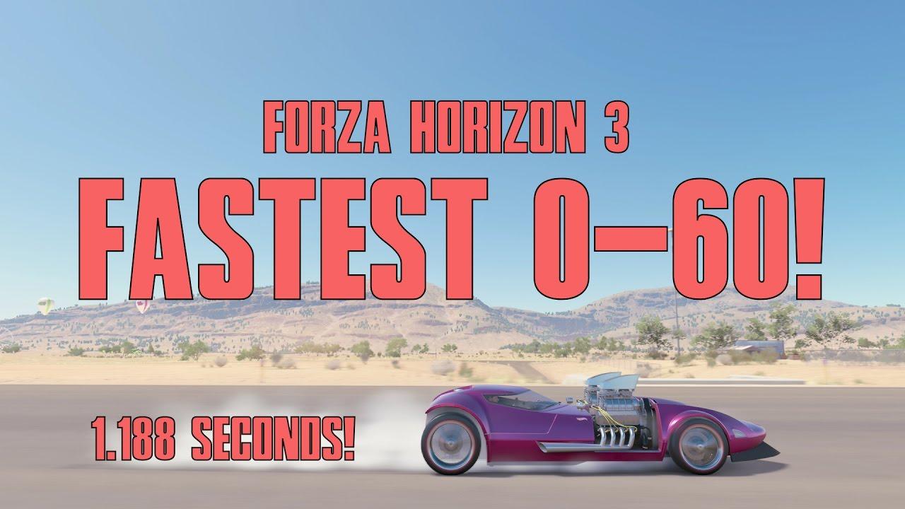 Fastest Accelerating Car In Forza Horizon