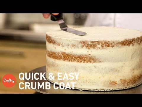 How to crumb coat a cake   Buttercream Tutorial with Erica O'Brien