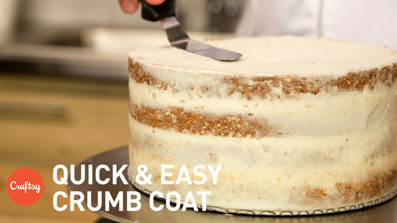 How To Crumb Coat A Cake Ercream Tutorial With Erica O Brien You