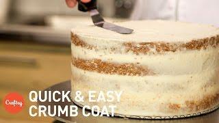 How to crumb coat a cake  Buttercream Tutorial with Erica O&#39Brien