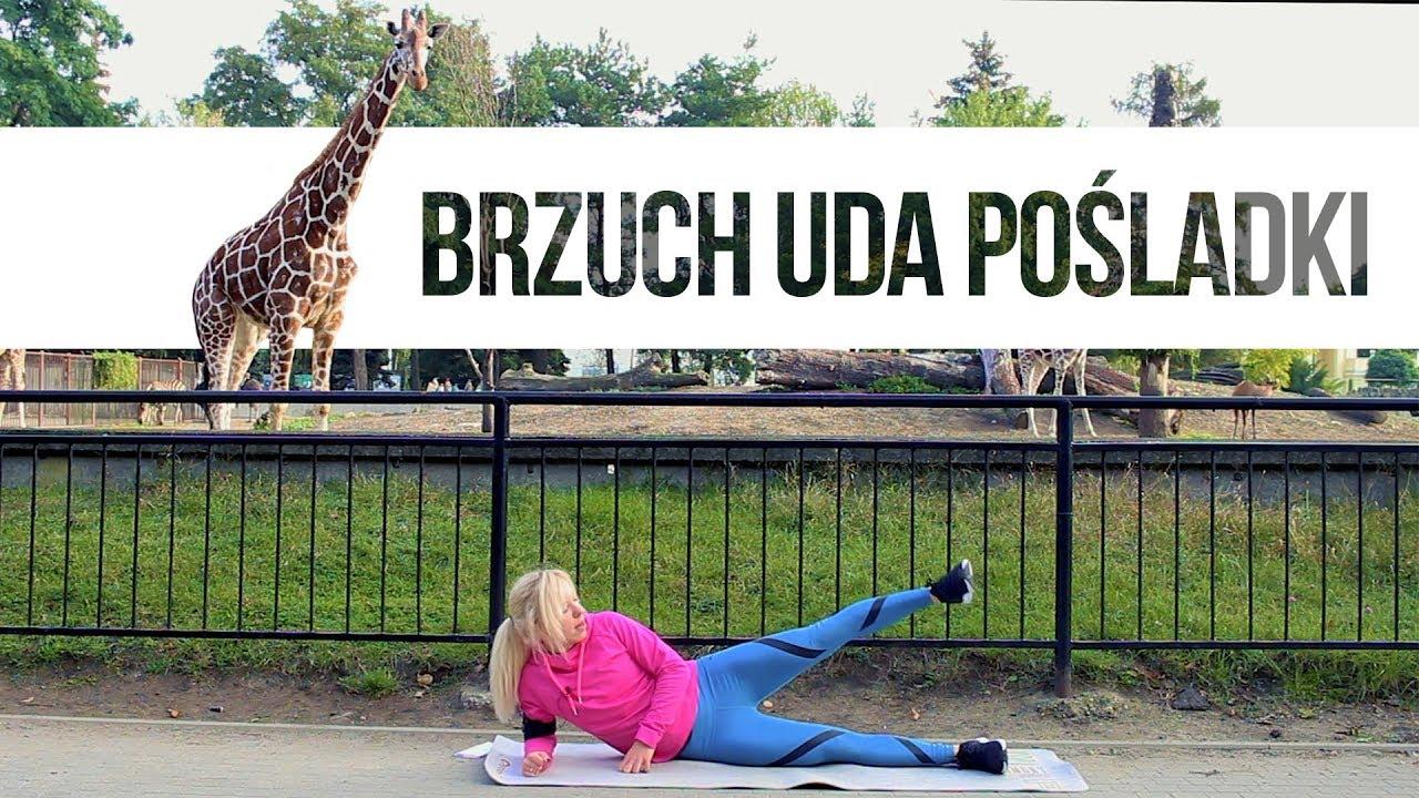 Trening BRZUCH + UDA + POŚLADKI … z żyrafami! | Codziennie Fit