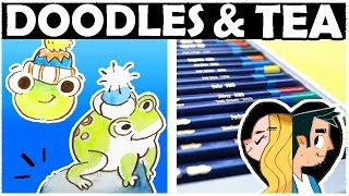 PAINTING with INK PENCILS? - DOODLES AND TEA!