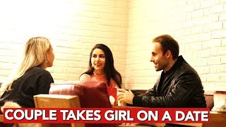 Couple takes girl on a date!