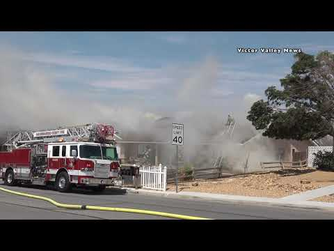 Firefighters knock down attic fire in Victorville home