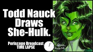 Todd Nauck Draws She-Hulk: TIME LAPSE