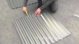 How to: Turn Up Corrugated Iron Roof Sheets Bayside Roofing Materials