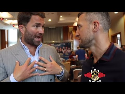 (FACE TO FACE!) CARL FROCH BLAMES EDDIE HEARN FOR NO JOSHUA-WILDER FIGHT