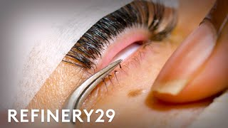 I Got $300 Bottom Eyelash Extensions For The First Time | Macro Beauty | Refinery29
