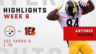 Antonio Brown Highlights vs. Bengals
