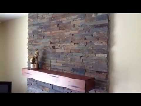 Stone Veneer Panels Fireplace Natural Stone Youtube