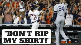 Astros Cheating in 2019 ALCS?  Don't Rip My Shirt!  - José Altuve