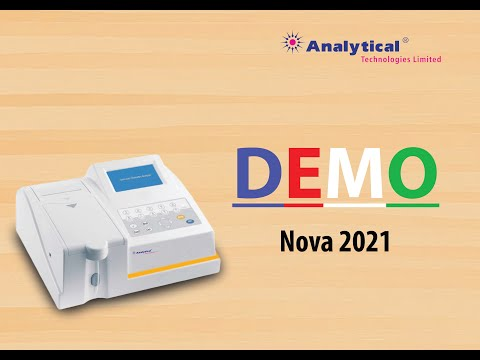 demo for  semi auto bio chemistry analyser