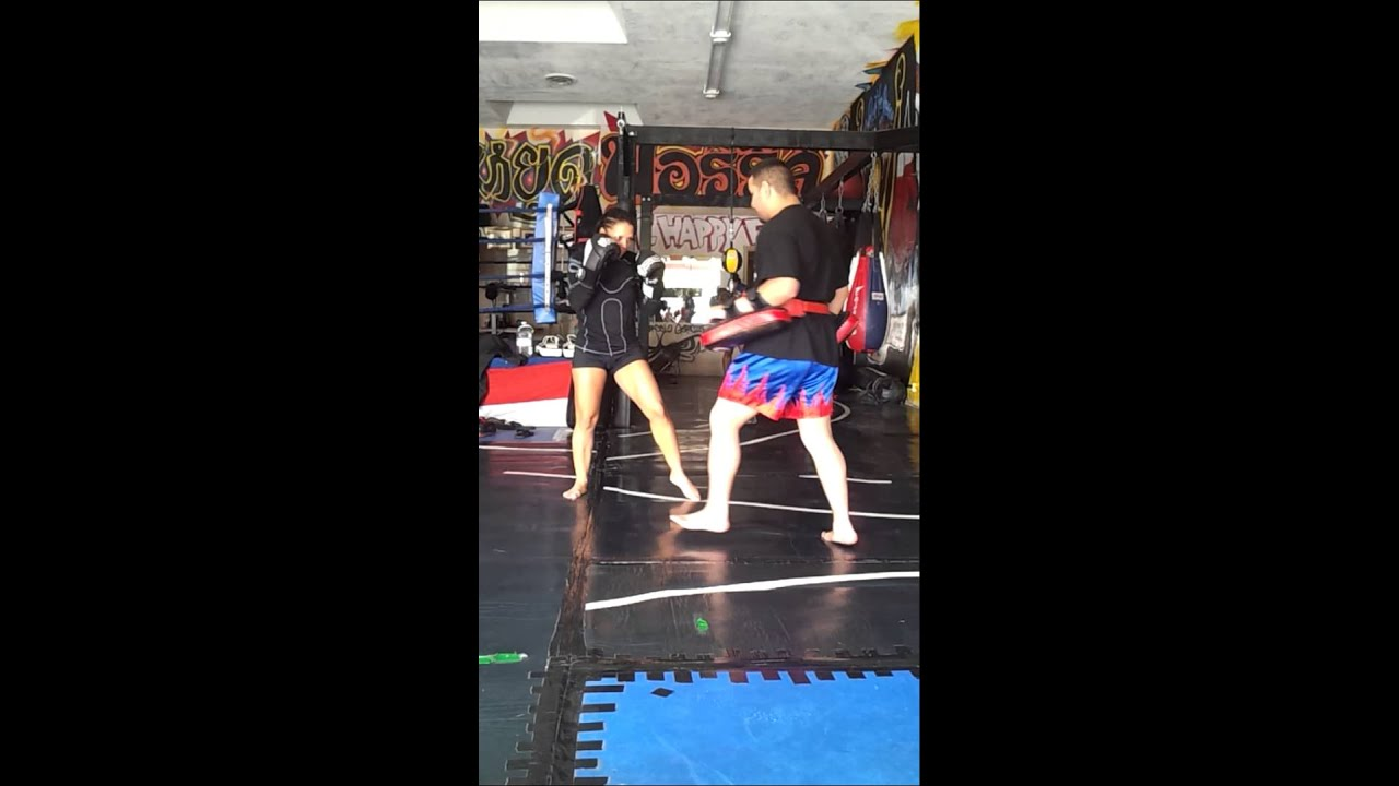 Mercedes Ashley Alan Florez Muay Thai Kickboxing Mma Full Pads Part 1