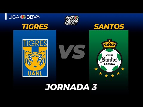 U.A.N.L. Tigres Santos Laguna Goals And Highlights