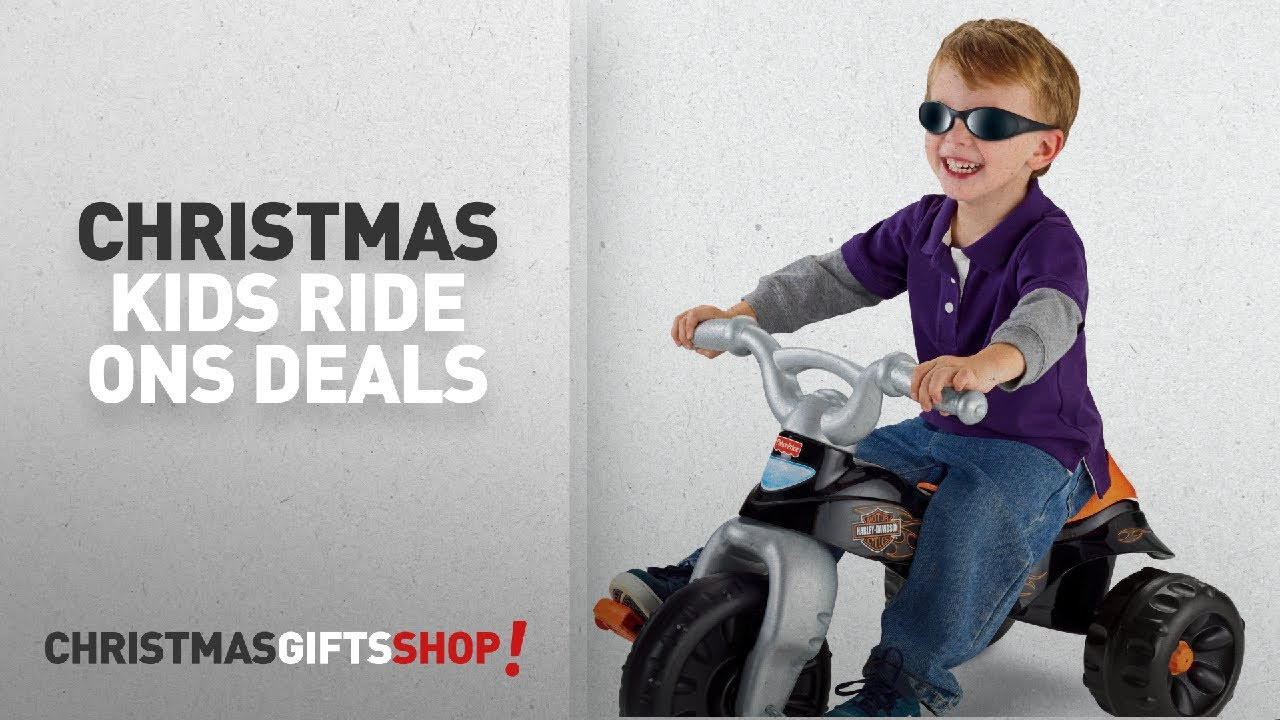 Christmas Sale Kids Ride Ons Fisher Price Harley Davidson Tough On Trike Littletikes Radioflyer