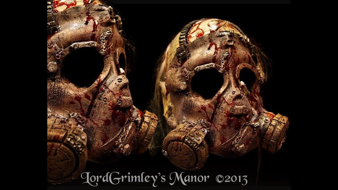 bloody doomsday zombie foam latex halloween mask - Bloody Halloween Masks
