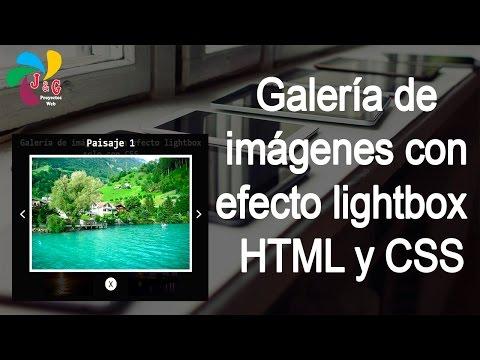 Galería de imágenes con efecto lightbox solo con HTML y CSS