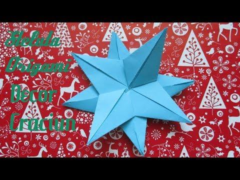Steluta Origami | DECOR CRACIUN | Simplu de Facut