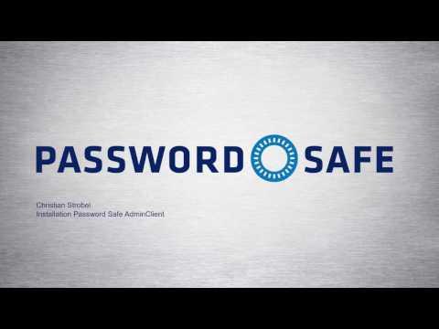 Password Safe Version 8 - Installation AdminClient (Anwendungsserver)